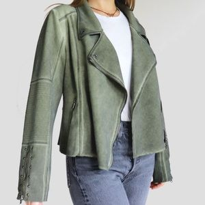 Anthropologie S Army Green Studded Moto Jacket